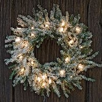 Frosted Lit Pine Wreath