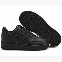 Nike Air Force 1 Fashion Men's Women Shoes Black Air force Leisure sports shoes