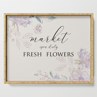 fresh flower market Serving Tray by sylviacookphotography