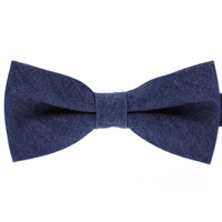 Tok Tok Designs Pre-Tied Bow Tie for Men & Teenagers (B163, 100% Cotton, Denim)