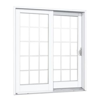 MP Doors 60 in. x 80 in. Smooth White Right-Hand Composite DP50 Sliding Patio Door with 15-Lite GBG-G5068R002W350 - The Home Depot