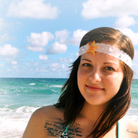 Lace Sugar Starfish Headband