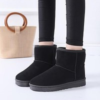 Snow Boots Ankle Boot Fashion Non Slip Flat Booties Keep Warm Shoes