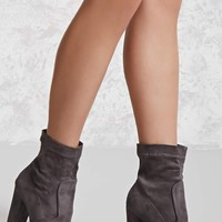 Yoki Faux Suede Boots (Wide)