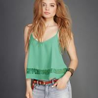 Dreamy Lace-Inset Tank | Wet Seal