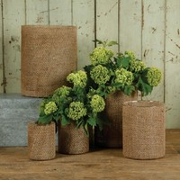 Burlap Vases - Natural - Available in Five Sizes