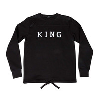 King Apparel - Perf Tapered Track Top - Black