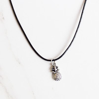 Pineapple Charm Choker Necklace