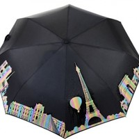 Paris Cityscape Color Changing Umbrella | Changes Color with the Rain