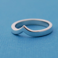 $55.00 La Vague  sterling silver ring by LucieVeilleux on Etsy