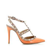VALENTINO VALENTINO ROCKSTUDS ORANGE SHOES