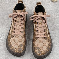 New high-top lace and velvet platform trendy men's sneakers shoes