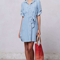 Anthropologie - Belted Chambray Shirt Dress