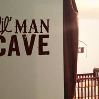 Lil' Man Cave Vinyl Wall Art