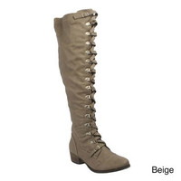 Breckelle's Beige Alabama 14 Tall Laceup Boot