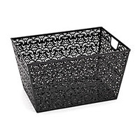 Realspace Brocade Storage Basket Black by Office Depot