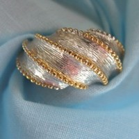 ON SALE was 19.99 Vintage Silver and Gold Ring