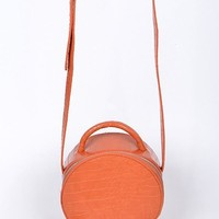 Mad Mini Hatbox Purse Orange