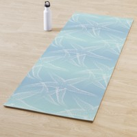 Starfish Aqua Blue Beach Yoga Mat