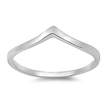 Sterling Silver Chevron Thumb Ring