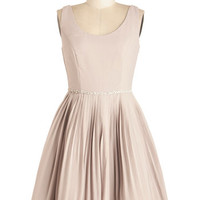 ModCloth Mid-length Tank top (2 thick straps) Fit & Flare Sage a Dance Dress in Mist
