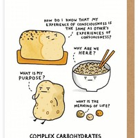Complex Carbohydrates Card