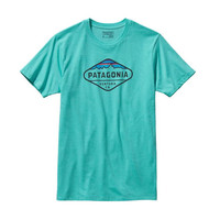 Patagonia Men's Fitz Roy Crest Cotton/Poly T-Shirt- Howling Turquoise