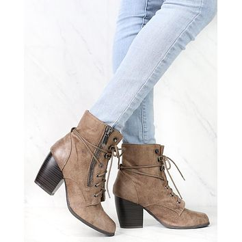 High Road Suede Heel Ankle Boots in More Colors