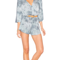 Blue Life Flora Romper Denim Grey
