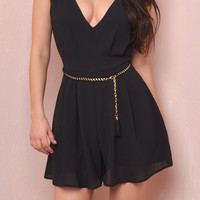 Sun Kissed Black Romper