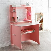 Legare 36 in. Desk with Hutch - Pink & White | www.hayneedle.com