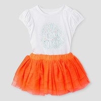 Baby Girls' Bodysuit and Tutu Set - Baby Cat & Jack™ White/Coral : Target