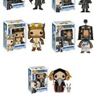 Funko Monty Python and the Holy Grail Tim the Enchanter, French Taunter, Sir Bedevere, Black Knight and King Arthur Pop! Vinyl Figures Set of 5
