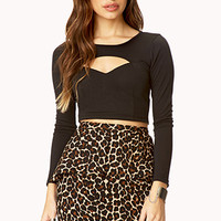 FOREVER 21 Leopard Peplum Skirt Taupe/Brown Small