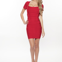 'Grace' Red Bandage Dress