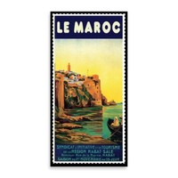 """Le Maroc"" Vintage Travel Printed Canvas Wall Art"