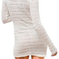 Sexy Soft Sweater Shadow Stripe Skinny Top Yoga To Loungewear by KD dance New York Warm Cozy & Durable Made In USA