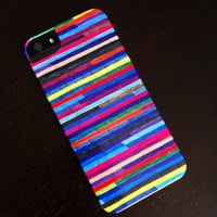 """iPhone 5 Case - """"Broken Stripes"""" Graph Drawing - unique iPhone case, art iPhone case, hipster iphone case, iphone 5 case"""