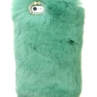 SO FURRY GREEN IPHONE CASE