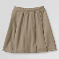 School Uniform Girls' Pleated Ponté Skirt from Lands' End