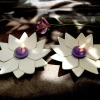 Hand built Ceramic plate ,Flower Dish,Candle Holder ,Jewelry Dish,Spoon Rest, White- Cream,Decoration
