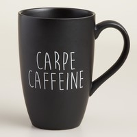 """Carpe Caffeine"" Mug, Set of 2"