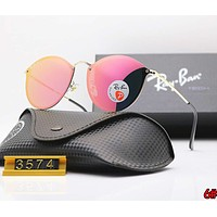 RayBan Ray-Ban Trending Women Men Stylish Sunglasses Sun Shades Eyeglasses Glasses 6# Pink