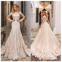 Full Length Sleeves Wedding Bridal Dress