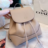 COACH Fashion Woman Leather Daypack School Bag Shoulder Bag Backpack