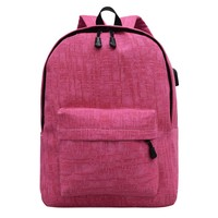 School Bags For Teenager Boy Girls Laptop Unisex Canvas Backpack External USB Charge Laptop Computer Backpacks Rucksack mochila