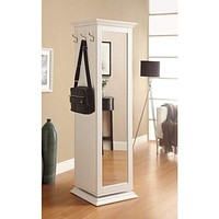 Casual Style Metal Accent Cabinet,White By Coaster