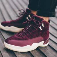 Best Deal  Online  Nike  Air Jordan Retro 12 Bordeaux Bordeaux/Metallic Silver-Sail 130690-617