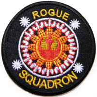 """STAR WARS Rogue Squadron Iron On Embroidered Patch 2.9""""/7.5cm"""