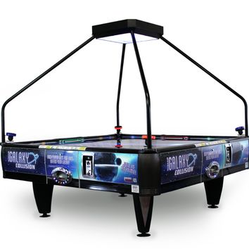 Barron Games Galaxy Collision QuadAir Air Hockey Table - 4-Player